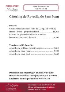 Càtering Fonda Sport revetlla Sant Joan