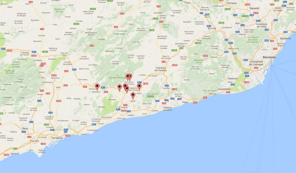 Mapa de les cases del Grup Cal Jafra